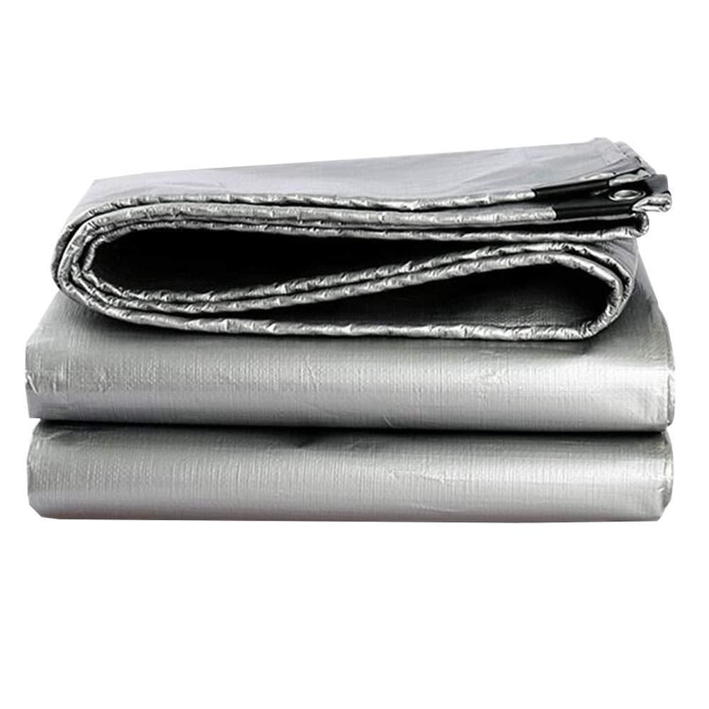 MUMA ターポリン 厚い 銀 インク 緑 耐寒性 防水 日焼け止め シェード 屋外 (色 : Silver - dark green, サイズ さいず : 8*10M) 8*10M Silver - dark green B07KMRBKV4