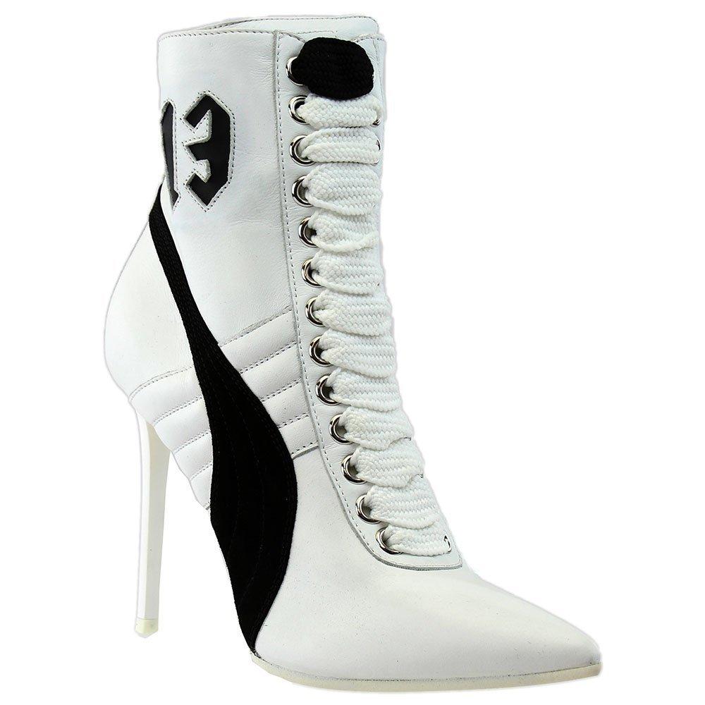 PUMA Women's x Rihanna Sneaker Booties B06XMXCVF8 7.5 B(M) US Puma White/Puma Black/Puma White