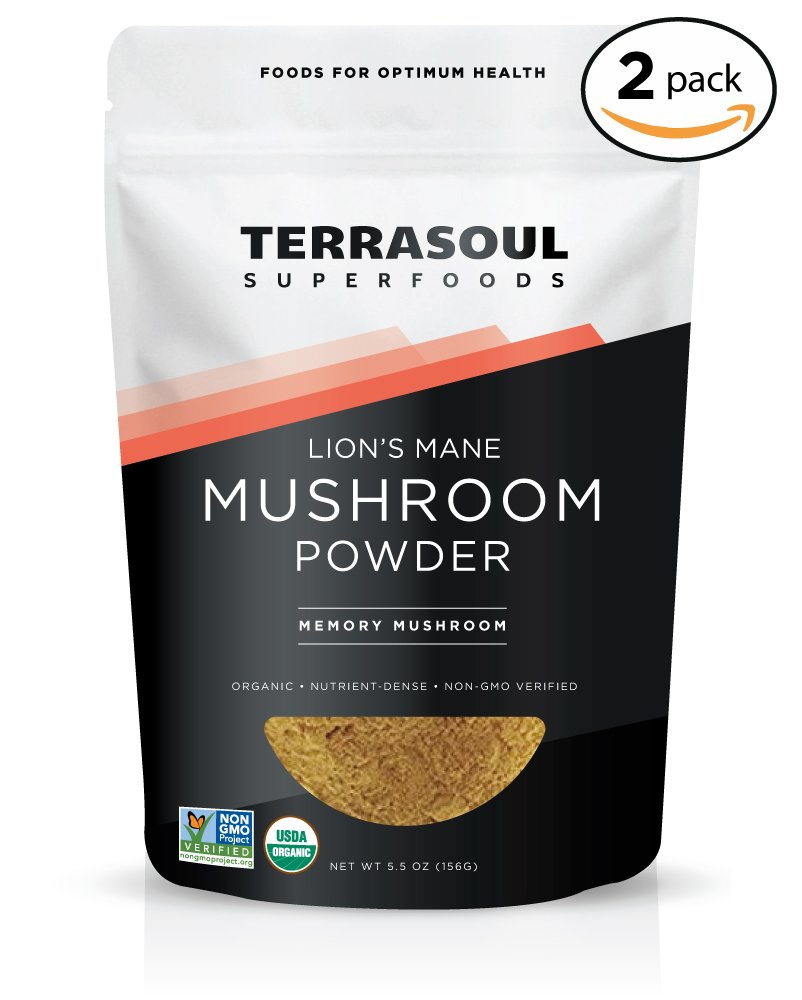 Terrasoul Superfoods Organic Lion's Mane Mushroom Powder (4:1 Extract), 11 Ounces