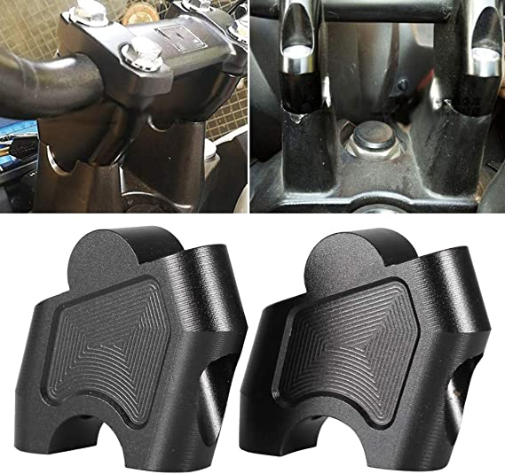 Qiilu CNC Motorcycle Riser Lifting Handlebar Clamp Fit for Honda NC700X NC700S NC750X NC750S CB500F CB500