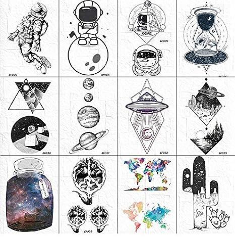 3D Tatuajes Interestelares Geométricos Temporales Hombres Brazo ...