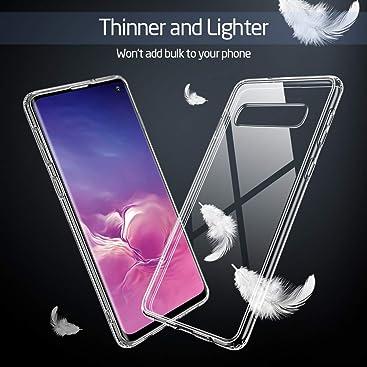 ESR Coque pour Samsung Galaxy S10e Silicone, Coque Transparente avec Revêtement Arrière en Verre