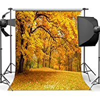 SJOLOON Autumn Backdrop 10x10ft Beautiful Natural Scenic Photography Background Wedding Newborn Children Backdrop 10750