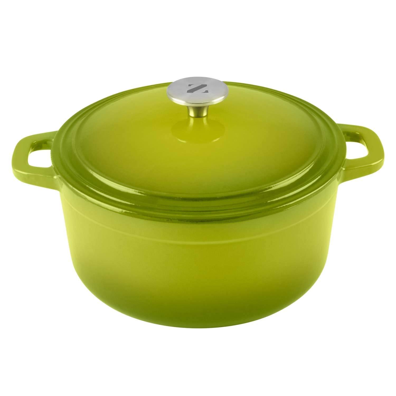Zelancio Cookware 6 Quart - Cacerola de hierro fundido esmaltada con tapa de calavera, diseño holandés: Amazon.es: Hogar