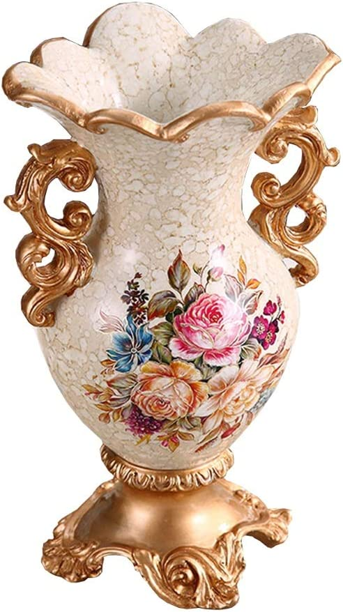 Dining Room or Living White Polyresin Cylindrical Large Vase For Bedroom