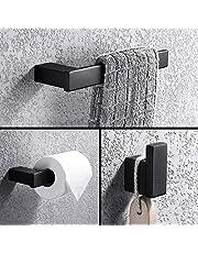TURS Bathroom Hardware Set Towel Bar Robe Hook Towel Holder Set,CAN1-SET