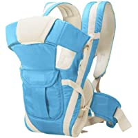 HOLME'S 4 In1 Adjustable Baby Carrier Bag/Baby Carrier/Baby Shoulder Carrier/Baby Strap Carrier/Child Safety Belt/Infant Carrier Bag/Baby Holder with Head Support and Buckle Straps (Sky Blue)