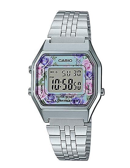 Casio Reloj Digital para Mujer de Cuarzo con Correa en Acero Inoxidable LA680WEA-2CEF: Amazon.es: Relojes