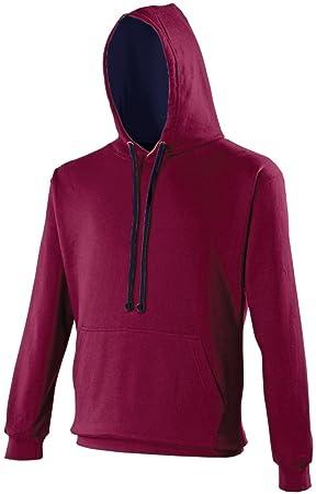 AWDis Hoods Varsity Hoodie Burgundy-Oxford Navy Streetwear Sudaderas Hombre: Amazon.es: Deportes y aire libre
