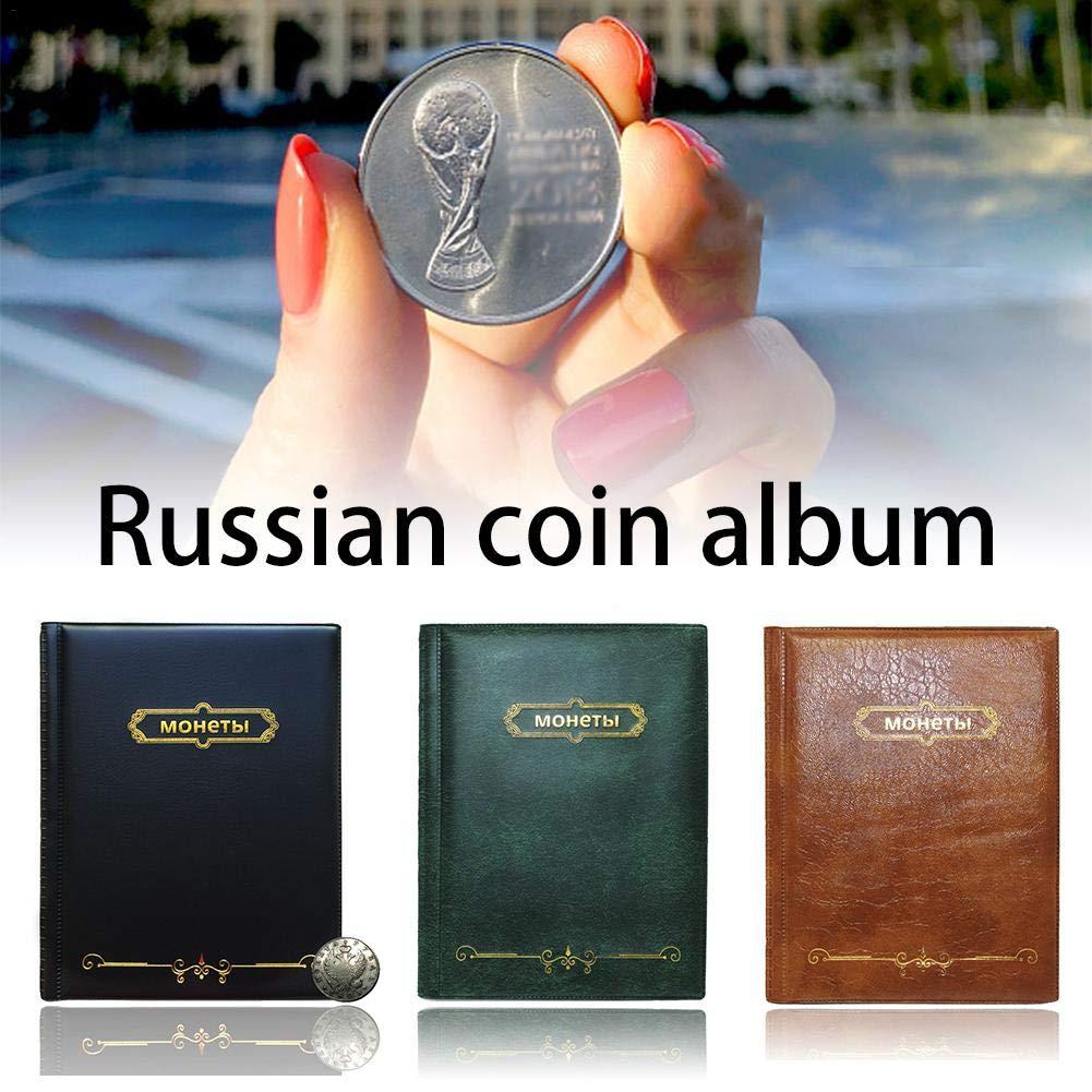 red Carpeta de monedas f/ácil de llevar con 250 bolsillos para coleccionistas de monedas