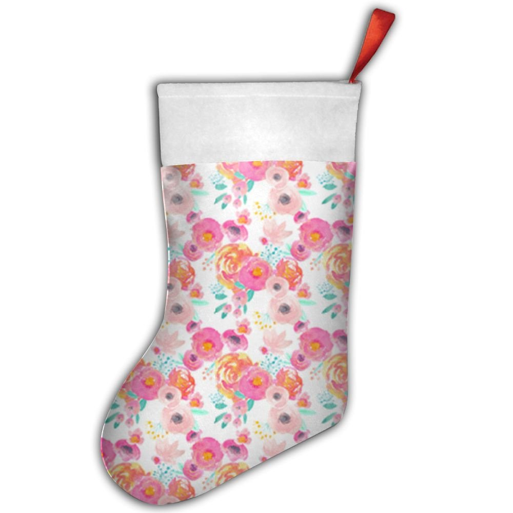 Amazon.com: Indy Bloom Blush Florals Classic Christmas Stockings ...