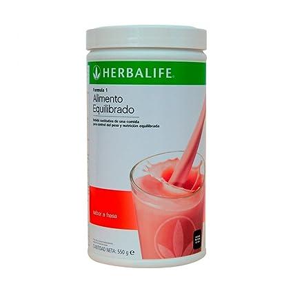 Herbalife Batido Formula 1 Fresa 550g (Elige Sabor)