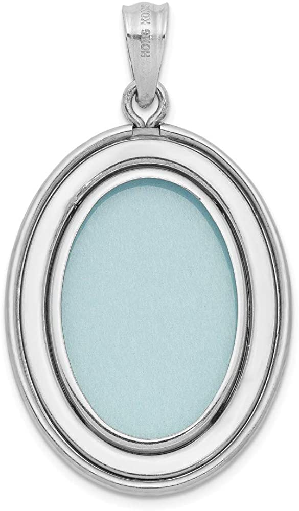 Solid 925 Sterling Silver Life is Inspiration Oval Open Locke