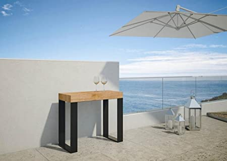 Consola extensible convertible en mesa de comedor para exteriores ...