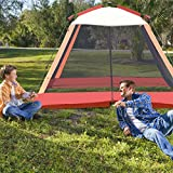 TANGKULA 6 Person Outdoor Sunshade Tent 10FT Screen House Automatic Pole Fast Setup Family Picnic Camping Lightweight Review