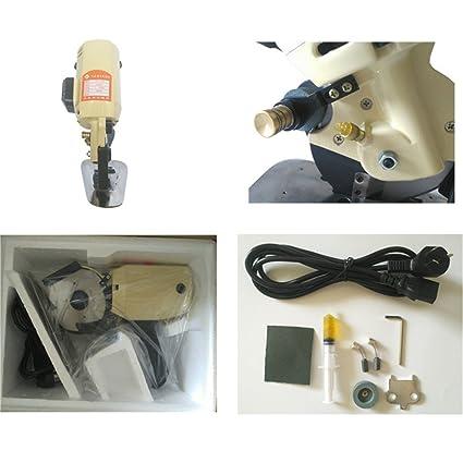 Vogvigo Máquina de Cortar Tela Eléctrico Portátil Cortadora de Tela Motor  Cuchillo Redondo Máquina de Corte de Cuero Papel Eléctrico 100mm   Amazon.es  Hogar 6b3ce01da184