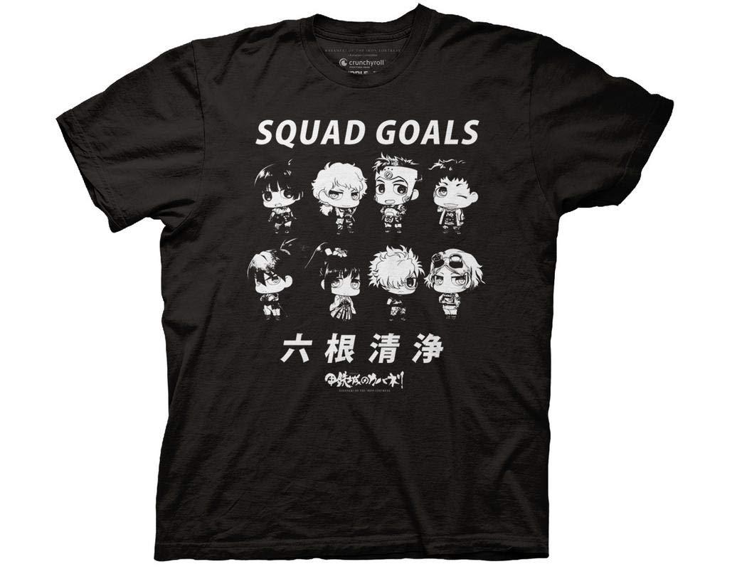 Kabaneri Of The Iron Fortress Chibi Squad Goals With Kanji Adult Shirts