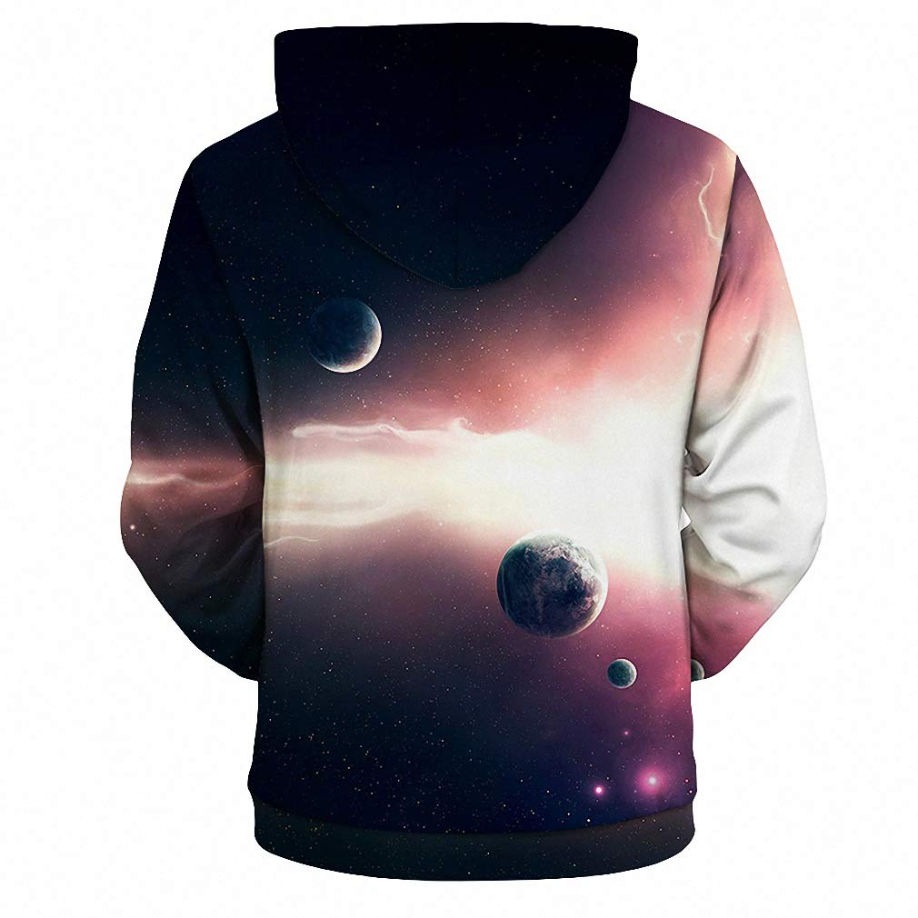a6a315e38d4e Dawery Unisex 3D Printed Hoodies Pullover Hooded Sweatshirt Plus Size 3D  Hoodies Men Hooded Hoodies Nebula Galaxy 3D Print Pullover 3D Sweatshirts  Men Coat ...