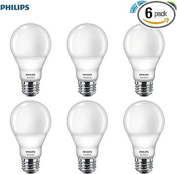 Philips Led A19 Sceneswitch Daylight 3 Setting Light Bulb Bright Medium Low 60 Watt Equivalent E26 Base 6 Pack Amazon Com