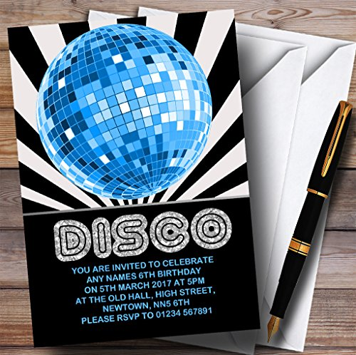 Disco Ball Blue Childrens Birthday Party -