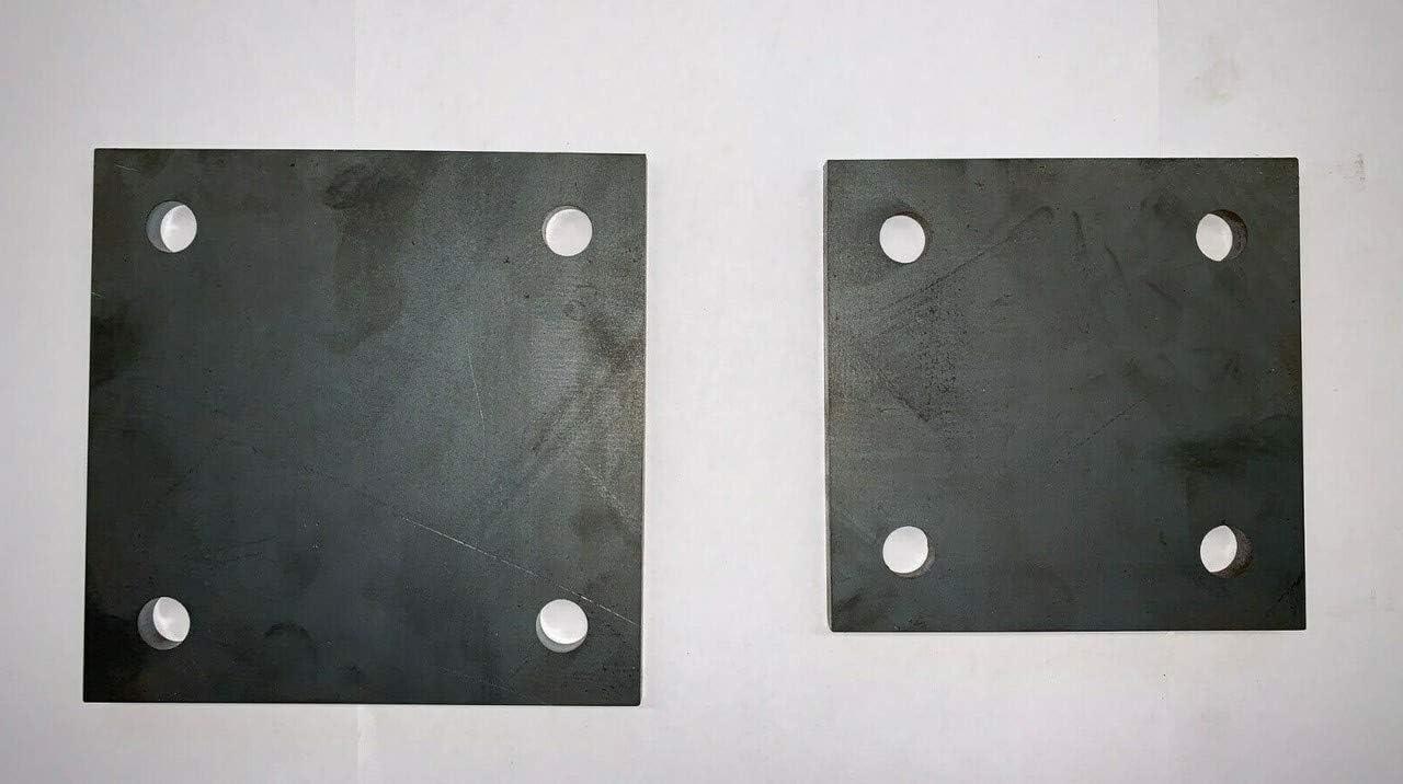 13mm Bohrung Stahlplatte Ankerplatte Blechplatte mit Loch 250x250x20 mm