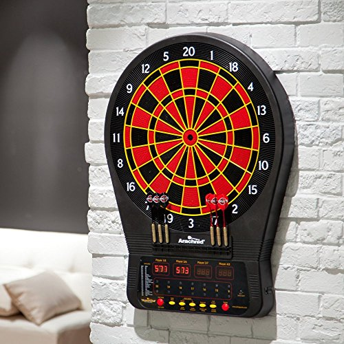 Top Rated Best Selling Most Popular Highest Rated Home Playroom Bar Authentic Multi Player Pro Model Electronic Bulls-Eye Digital LED Dart Board- Full Lit Display- 24 Games- Cricket Pro by cricketpro
