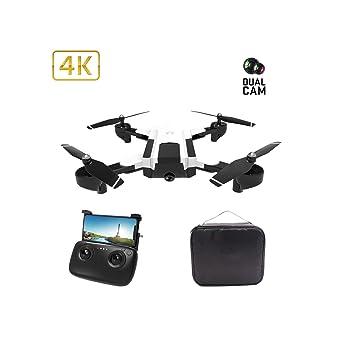 Drone de cámara 4K HD con doble cámara FPV WiFi RC con punto fijo ...
