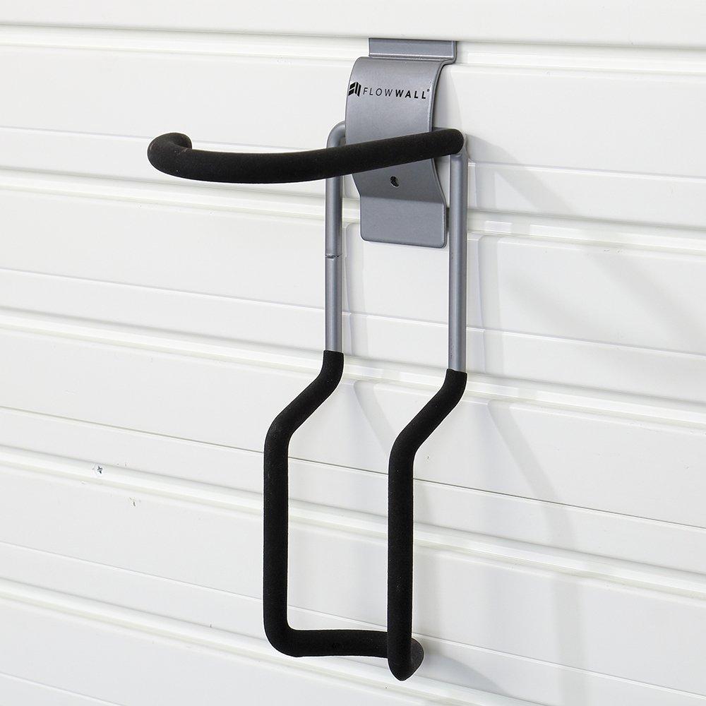 Flow Wall Silver Vertical Bike Hook