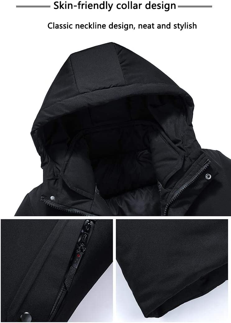 冬暖かい防風フード付きジャケットコート暖かい男性パーカー高品質ファッションカジュアルジャケット