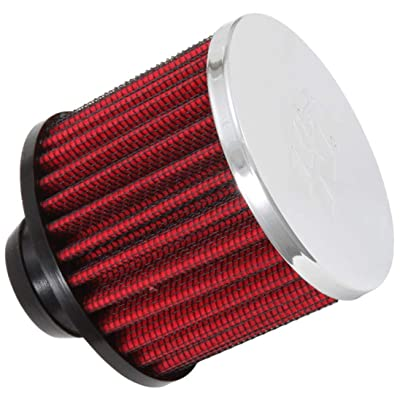 K&N Vent Air Filter/ Breather: High Performance, Premium, Washable, Replacement Engine Filter: Filter Height: 2.5 In, Flange Length: 1 In, Shape: Breather, 62-1490: Automotive