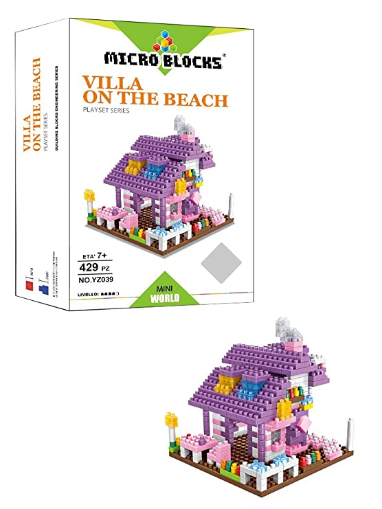 Micro Blocks wlt-yz039 - Juego Construcción Villa ON The Beach ...