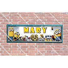 Personalized Customized Despicable Me 2 Minions Poster With Frame, With Your Name On It, Party Door Poster, Room Art Decoration, Wall Decor