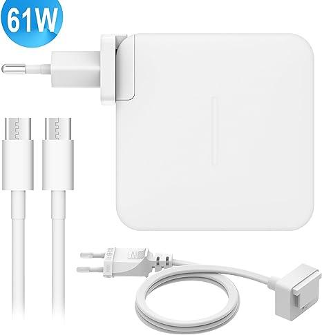Cargador para MacBook Pro 13 Pulgadas,61W/29W USB C Adaptador de ...