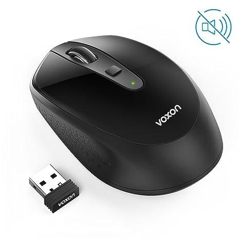 VOXON Omni 2.4G Silencioso Wireless Mouse óptico, Mini Ratón Inalámbrico Portátil con Receptor USB