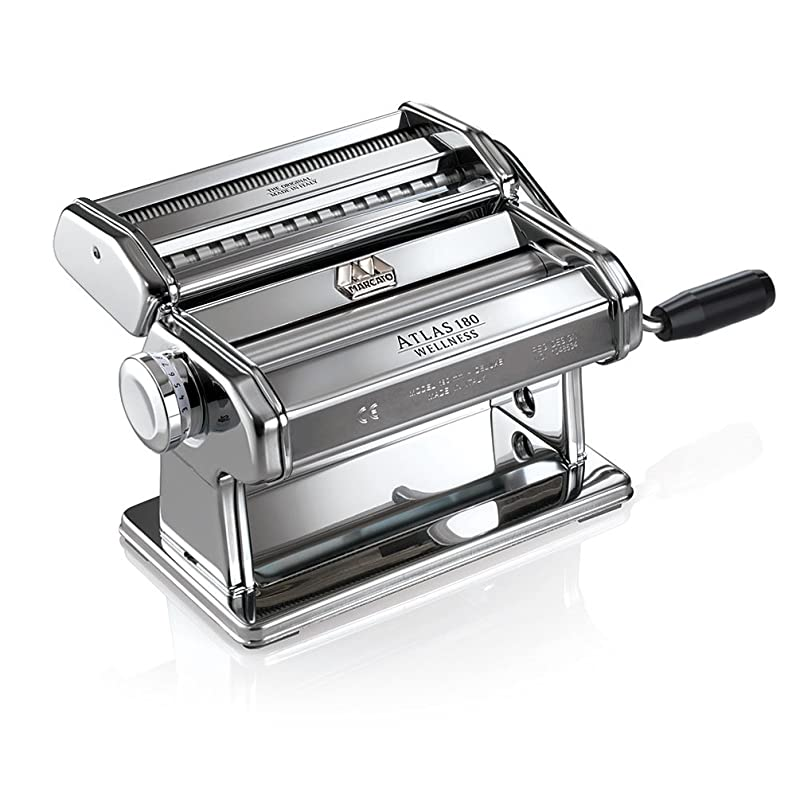 Marcato Atlas 180 Pasta Maker with A Polished Finish, Silver ...