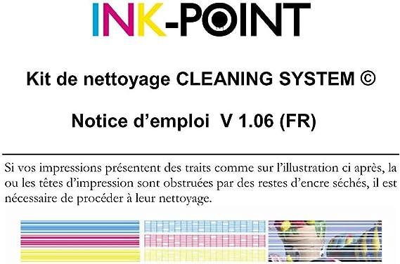 Limpieza de los cabezales de impresión Kit de impresora de inyección de tinta 30ml RSNROCKET limpiador hecho en Alemania con la jeringa y la inyección de fuelle exclusiva destapa las impresoras boquillas: