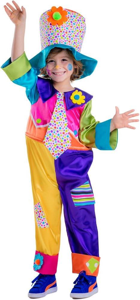 Dress up America - Disfraz de Payaso de Circo para niños,, Talla XS, 3 - 4 años (851-T4)
