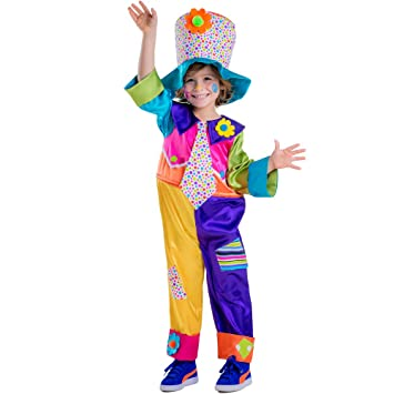 Dress up America - Disfraz de Payaso de Circo para niños,, Talla L ...