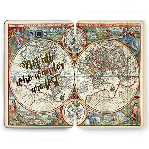 Wonder Wild Vintage Map Samsung Galaxy Tab S4 S2 S3 A E Smart Stand Case 2015 2016 2017 2018 Tablet Cover 8 9.6 9.7 10 10.1 10.5 Inch Clear Design World Map Vintage Travel Old Print Case Globe -
