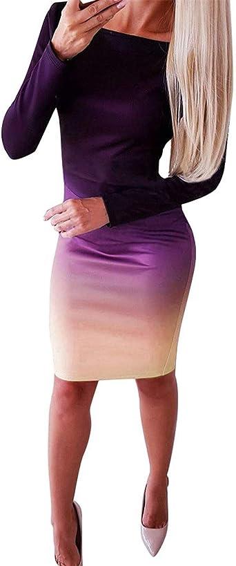 Kleider für Frauen Casual Party, Frauen Langarm