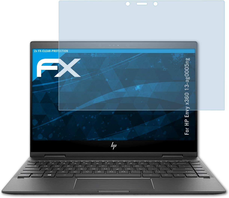 atFolix Panzerfolie kompatibel mit HP Envy x360 15-cn0008ng Schutzfolie 2X entspiegelnde und sto/ßd/ämpfende FX Folie
