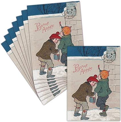 Carte Voeux Ancienne Amusante — 8 Cartes Postales ➽ 3 Formats Dispos — Carte  Bonne Année 2021 Sur Un Mur: Amazon.fr: Fournitures de bureau