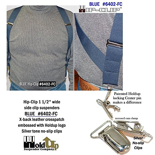 a1c8a68b02d Hold-Ups Blue Trucker Style Hip-clip Suspenders in 1 1 2   Wide and ...