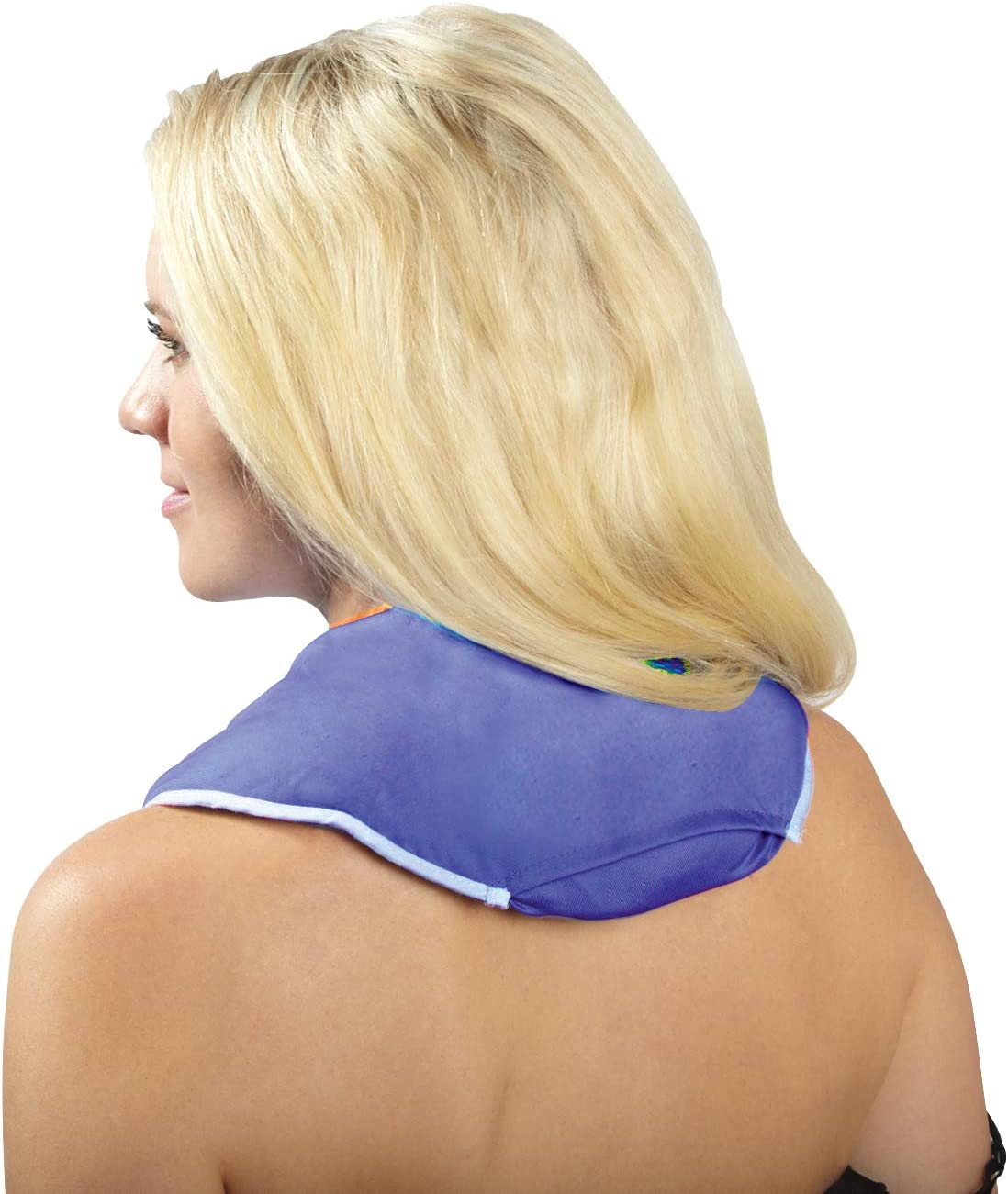 ThermiPaq Microwave Heating Pad for Neck and Shoulders - Reusable Heated Neck Wrap for Neck Pain and Shoulder Pain