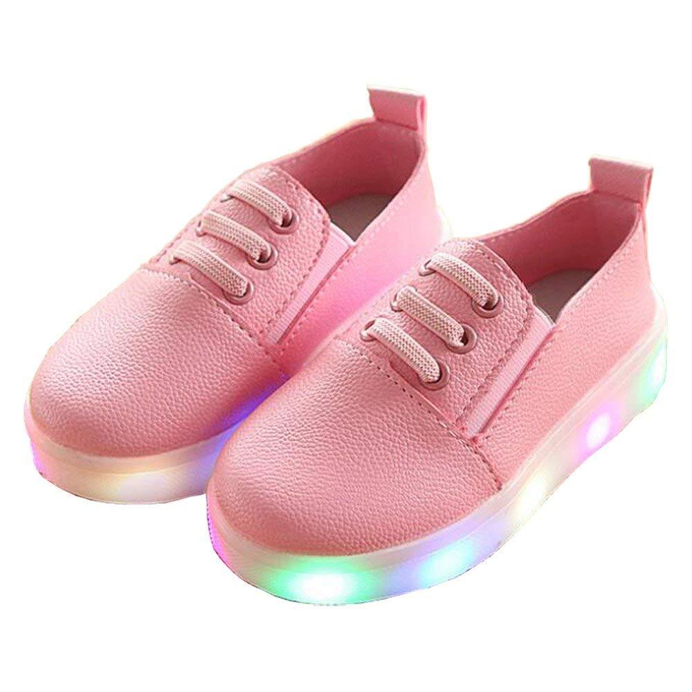 Kids LED Lights Shoes Unisex Baby Boys Girls Flashing Slip-on Toddler Shoes