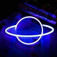 HaavPoois Planeet neonreclames LED neon wandbord, hangende neonlichten Planeet USB/batterij gevoede planeetlamp…