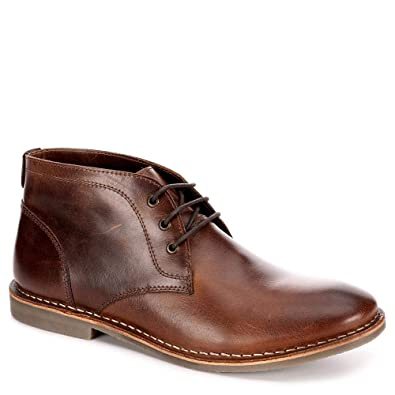 3a9d0224f82b9 Image Unavailable. Image not available for. Color: Franco Fortini Mens  Hudson Lace Up Chukka Boot Shoes ...