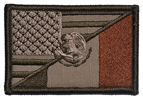 Mexican / USA Flag Patch 2x3 - Coyote