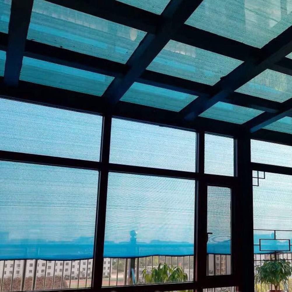 Color : Blue, Size : 1x1m SHIJINHAO-Filet De Camouflage Cr/ème Solaire R/éseau De Jardin Plante Ombre Protection Anti-d/échirure Trou en M/étal Facile /À Installer Polyester 18 Tailles