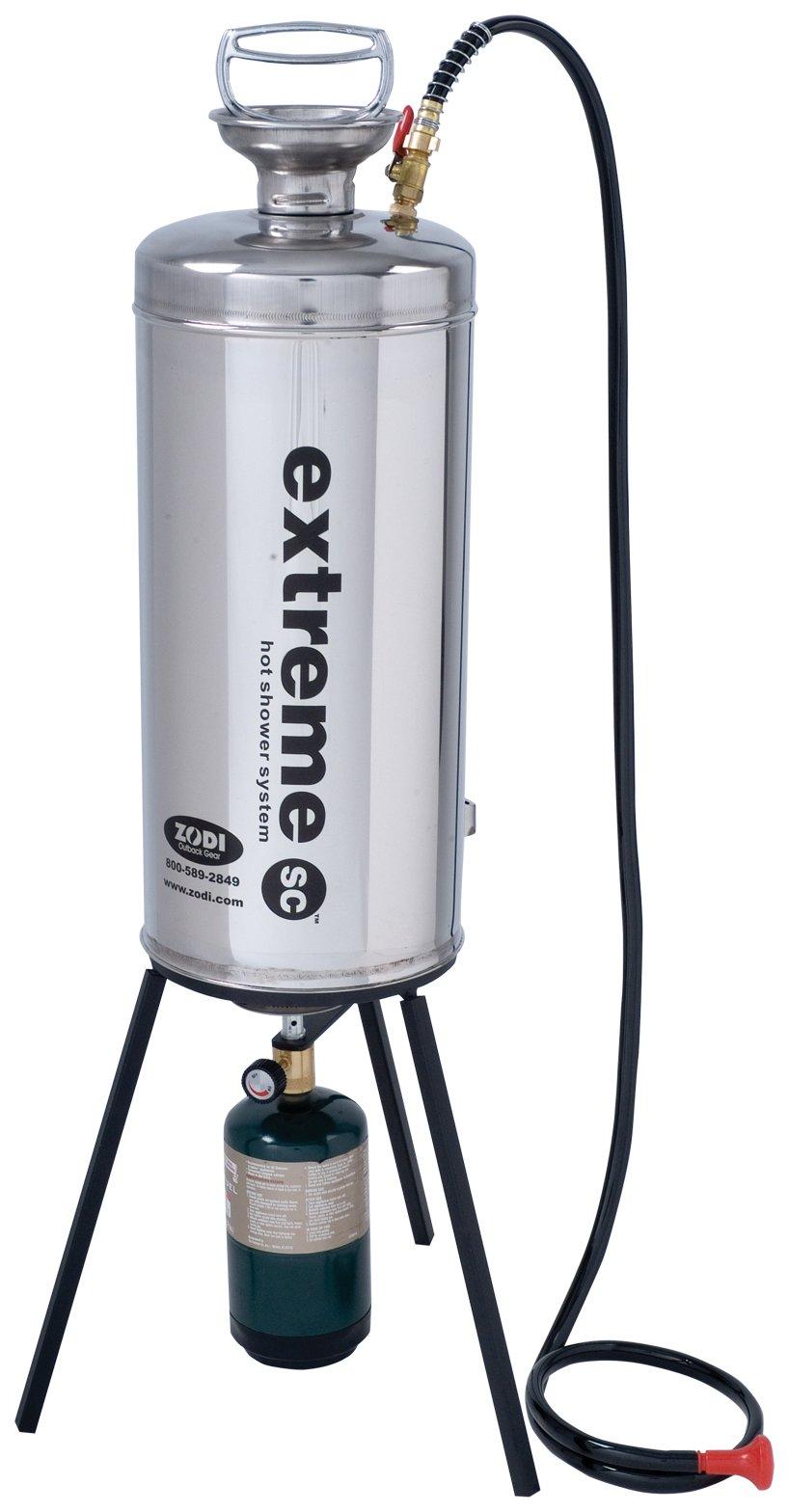 Zodi Extreme SC Portable Shower with Tripod Stove by Zodi